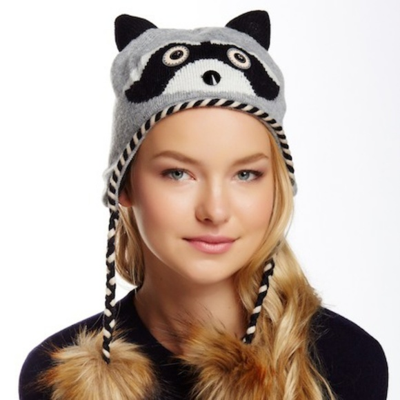 1808126b07e KATE SPADE Raccoon Night Creatures Earflap Hat